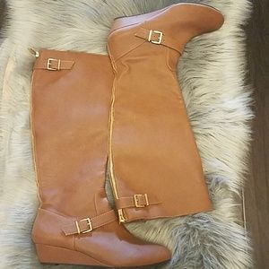Jessica simpson wedge knee high boots